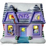 Plaster Village Pet Shop Light up Kit included