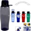 Plastic 24 oz water bottle with easy pop open lid