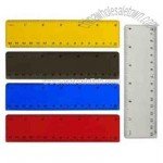 Plastic 6 inch ruler with inches and metric measurements