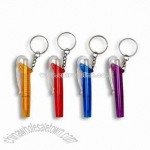 Plastic Ballpoint Pens with Key Rings