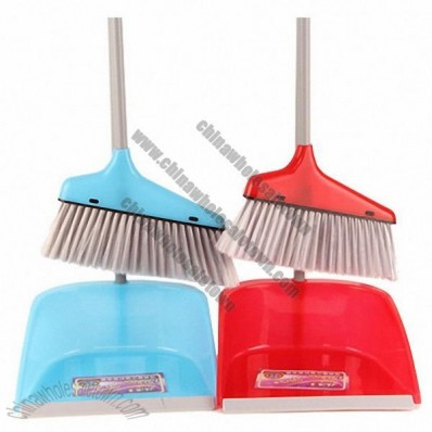 Plastic Brooms and Dust Pan Set