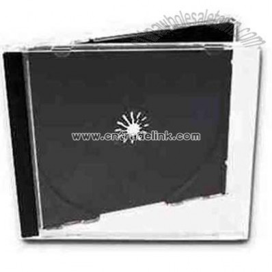 Plastic CD jewel case with black tray