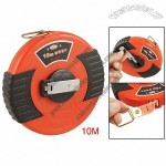 Plastic Case Winding Handle 10M Long Salmon Pink Fibre Tape Measure