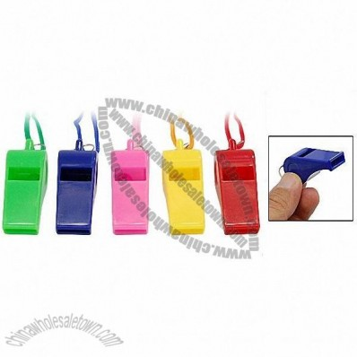 Plastic Children Kids' Whistle with Strap