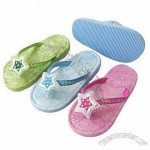Plastic Children's Slippers with Stars