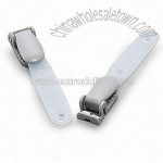 Plastic Clip with Molded Strap
