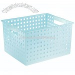 Plastic Decorative Storage Basket - Water Blue