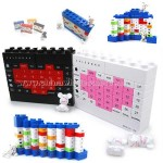 Plastic Desk Calendar Bricks 3D Puzzle DIY Toy