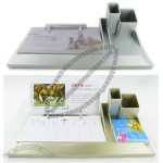 Plastic Desktop Set with Calendar and Pen Holder, Notes