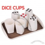 Plastic Dice Cup Set with Tray
