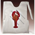 Plastic Disposable Adult Bibs with lobster, crab, ribs, spaghetti design