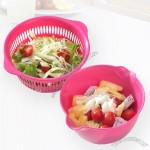 Plastic Drain Basket For Fruits And Vegetables