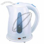 Plastic Electric Kettle with External Water Level Indicator and Light Indicator, Safety Lock Lid