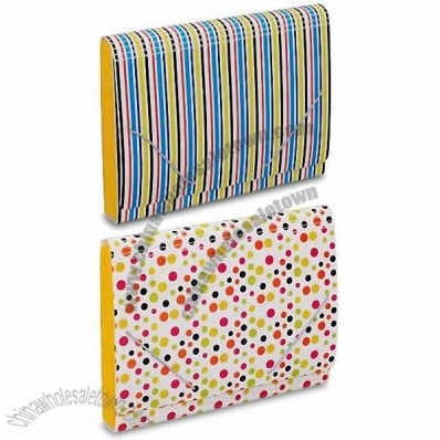 Plastic Expanding File Case with Offset Printing and Elastic Cord