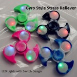 Plastic Fidget Spinner with Flashing LED Lights