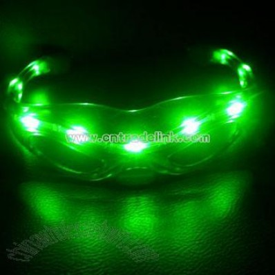 Plastic Flashing Sunglass With LED Light