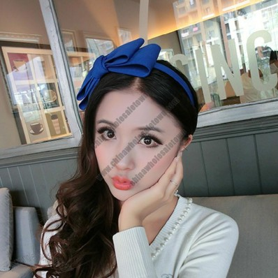 Plastic Hair Band with Bowknot