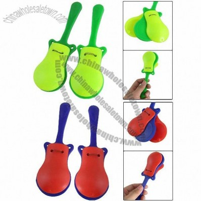 Plastic Handle Guitar Shaped Castanets