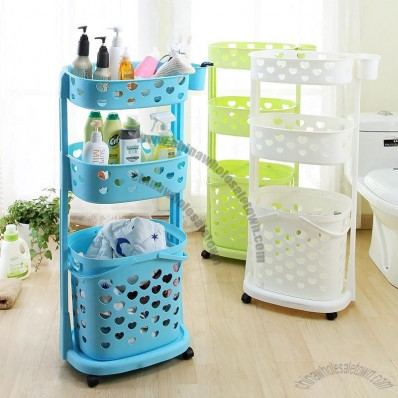 Plastic Heavy-Storage Rack with Wheel