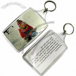 Plastic Keychain with Printed Design and/or Photo Insert