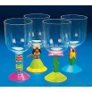 Plastic Luau Stem Glasses
