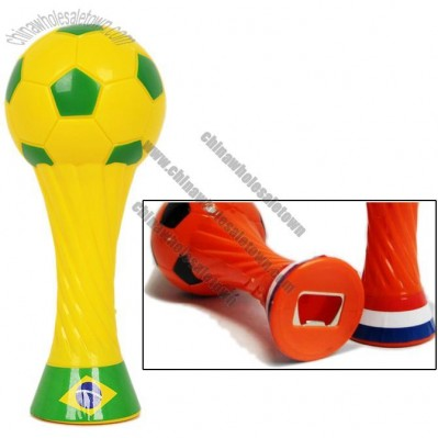 Plastic Maracas Bottle Opener for Football Match