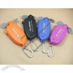 Plastic Mini Portable Water Spray Fan with Carabiner