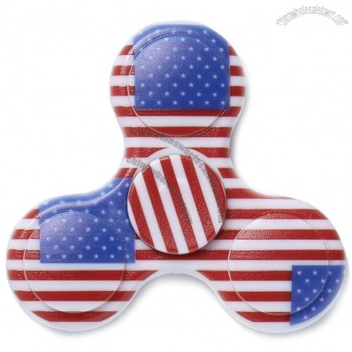 Plastic National Flag Patriotic Patterned Hand Fidget Spinner