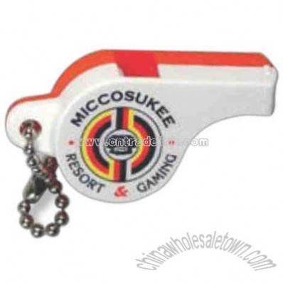 Plastic Police whistle with key chain