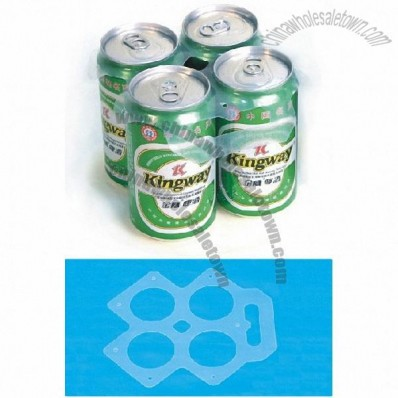 Plastic Portable Beer Can Holder for 4 Can