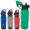 Plastic Sport Bottle with Flip Top Lid with Latch