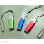 Plastic Swivel USB Flash Drive with Lanyard
