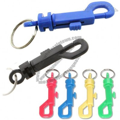 Plastic Trigger Hook Keychain, Mixed Colours
