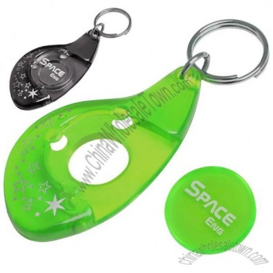 Plastic Trolley Token Keyrings