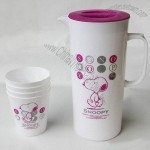 Plastic Water Pitcher Cup Set