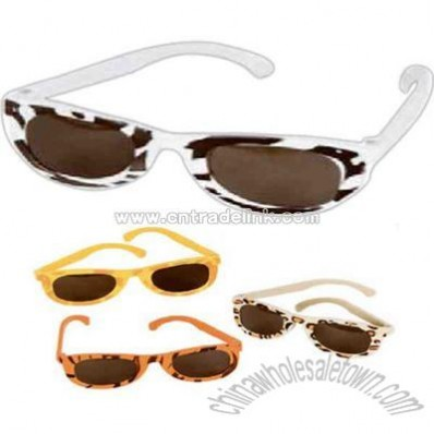 Plastic assorted safari print sunglasses