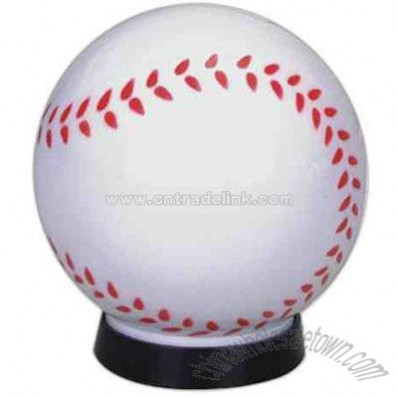Plastic baseball bank