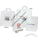 Plastic high end frosted shopping bag with Spot Color print