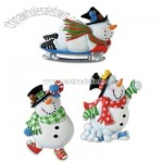 Playful Snowmen Magnets