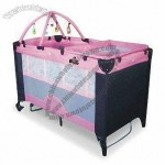 Playpen with Crossing Toy Bars and Toys