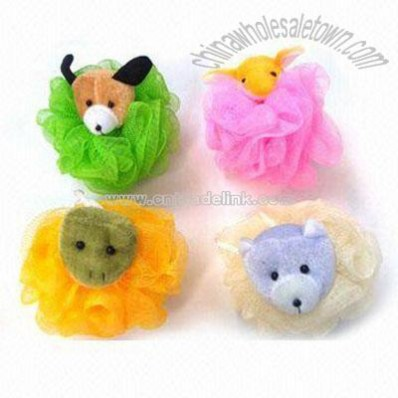 Plush Animal Bath Puff
