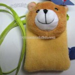 Plush Bear Shaped Mobile Holder with Cord
