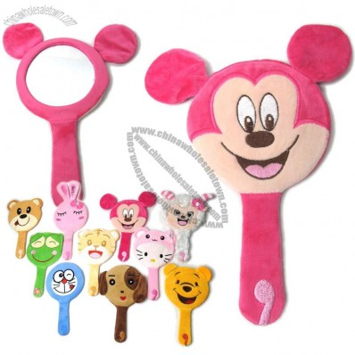 Plush Cartoon Toys Mirror