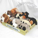 Plush Dog FM Scan Radios in Six Different Designs Packed in A Display Tray