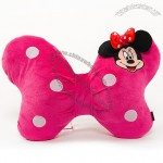 Plush Mickey and Minnie Mouse Car Pillow