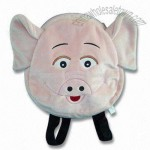Plush Pig Daypack with Embroidery