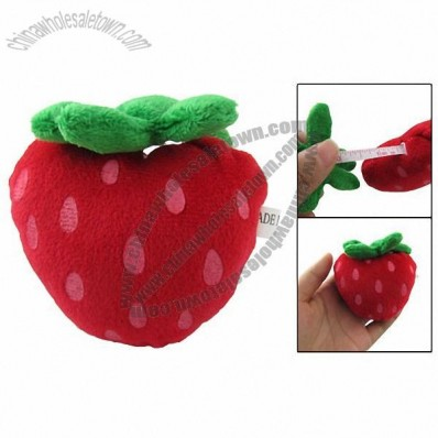 Plush Red Strawberry Shaped 1.5M Length Soft Measure Tape