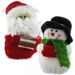 Plush Santas or Snowmen