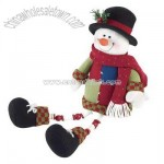 Plush Snowman Shelf-Sitter