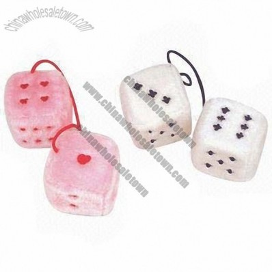 Plush embroidery dice, used for car decoration